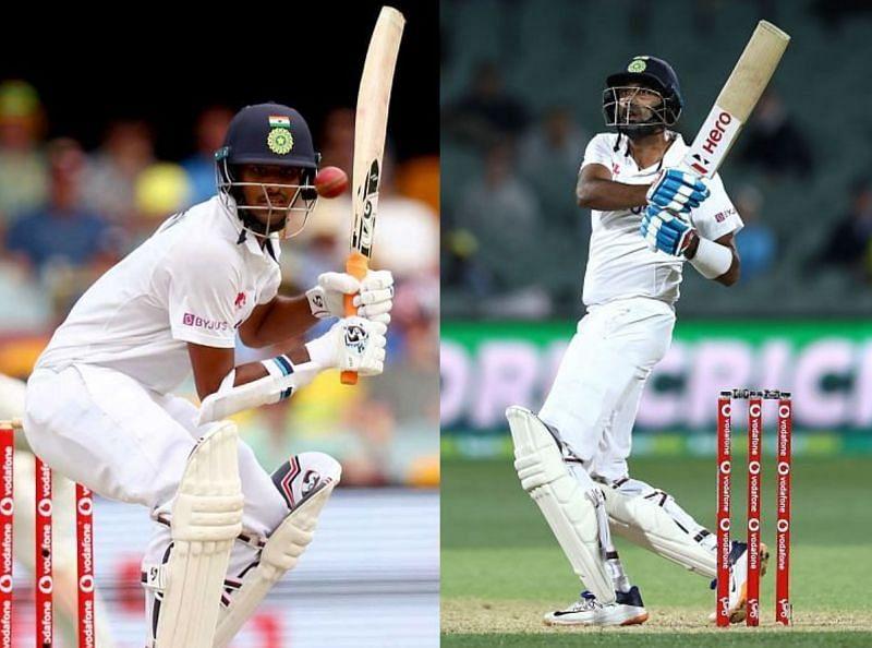 Washington Sundar (L) and Ravichandran Ashwin
