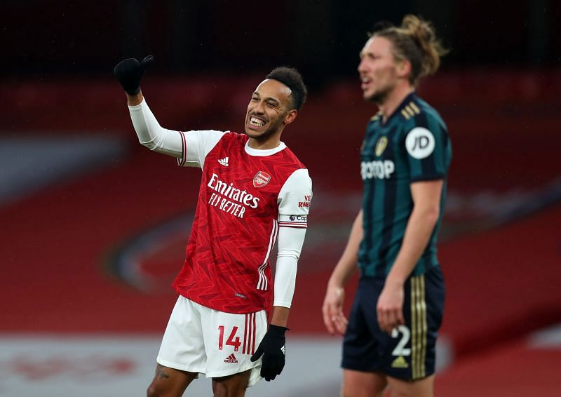 Pierre-Emerick Aubameyang scored an impressive hat-trick for Arsenal on Sunday.