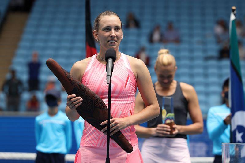 Elise Mertens at the WTA 500 Gippsland Trophy 2021