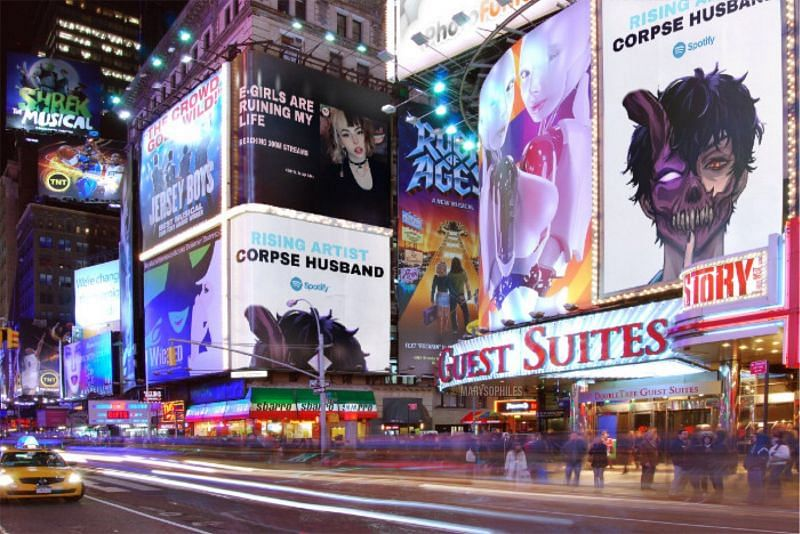 Corpse Husband Billboard was trending on Twitter earlier (image via marysophiles, Twitter)