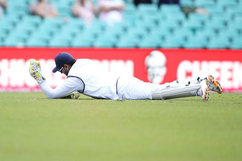 Rishabh Pant pulled off a couple of stunning catches in England