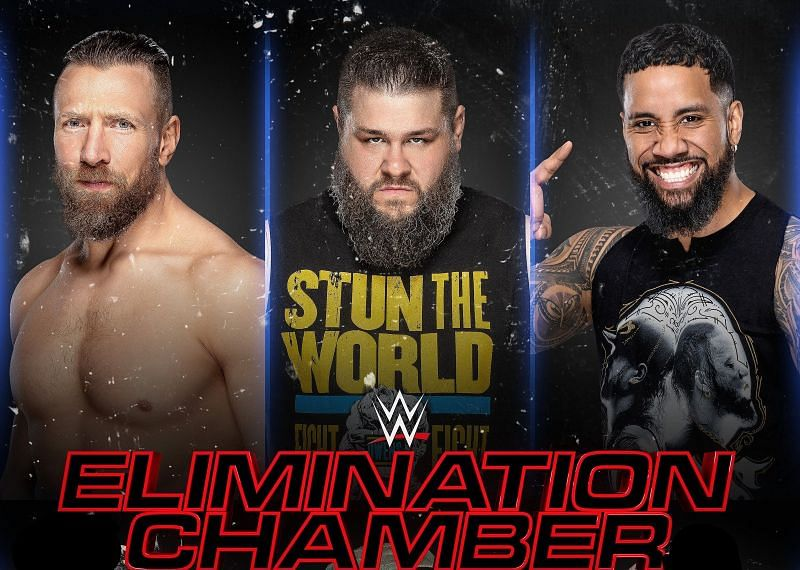 Daniel Bryan, Kevin Owens, and Jey Uso are all in the Elimination Chamber Match.