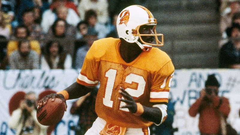 Doug Williams, at QB for the Tampa Bay Buccaneers