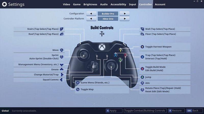 Builder Pro controls