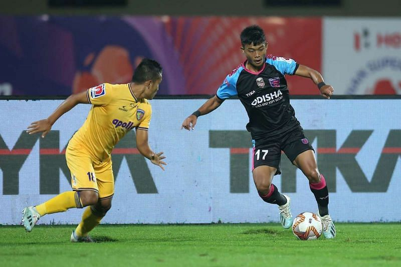 Jerry Mawihmingthanga is one of the most creative players in the Odisha FC side (Courtesy - ISL)