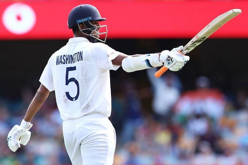 Washington Sundar scored an unbeaten 85 in India