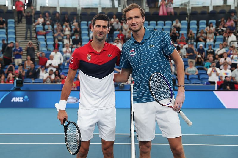 Novak Djokovic and Danii Medvedev
