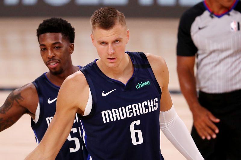 Kristaps Porzingis #6 of the Dallas Mavericks could see movement ahead of the NBA Trade Deadline