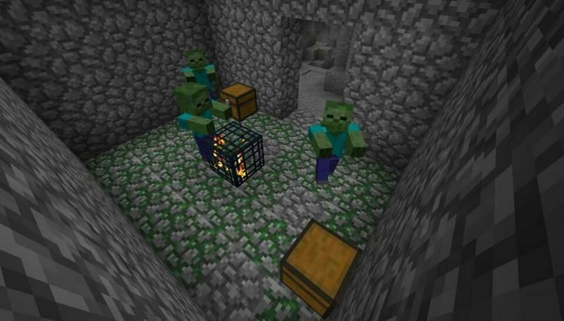 A naturally generated dungeon (Image via Minecraft)