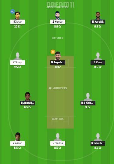 TN vs JHA Dream11 Team - Vijay Hazare Trophy
