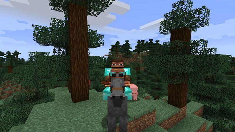 Monke like horsey! (Image via Minecraft)