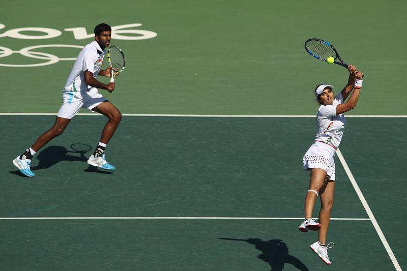 Rohan Bopanna and Sania Mirza during Rio Olympics