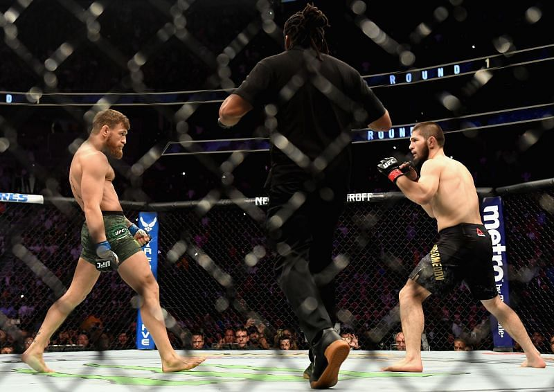 Khabib Nurmagomedov (right) opened on his approach to fight Conor McGregor (left) at UFC 229