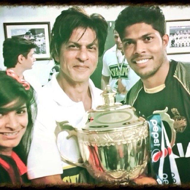 Umesh Yadav and his wife with SRK