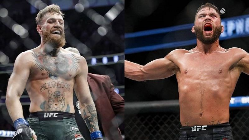 Conor McGregor (left); Jeremy Stephens (right)