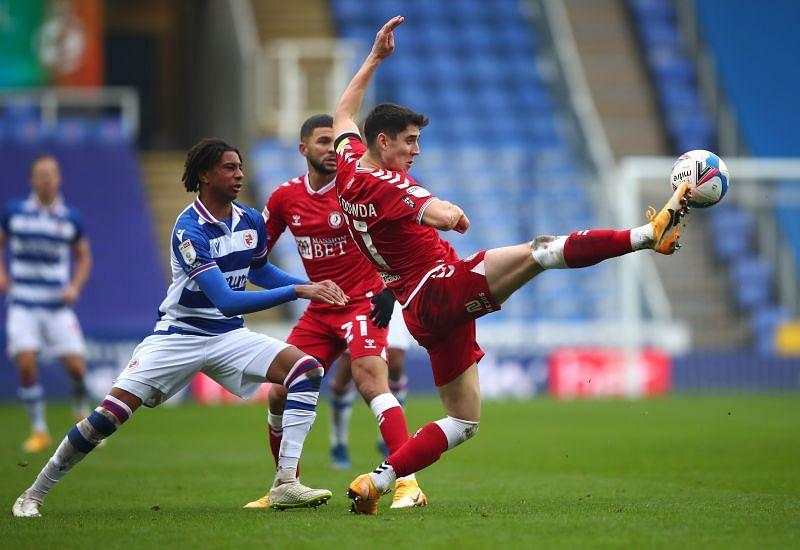 Reading take on Bristol City in EFL Championship action