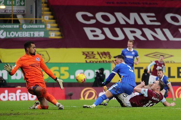 Robert Sanchez(L) was brilliant against Burnley.