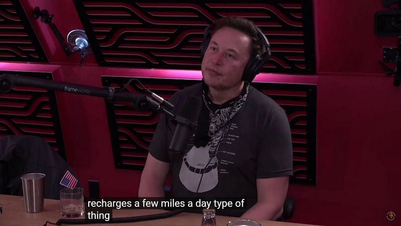 Elon stated that solar power is not a viable option for the cybertruck(Image Via YouTube/PowerfulJRE)