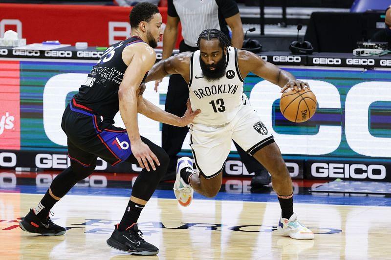 NBA DFS option James Harden of the Brooklyn Nets.