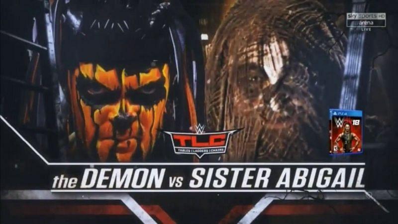 Finn Balor vs. Sister Abigail as originally advertised