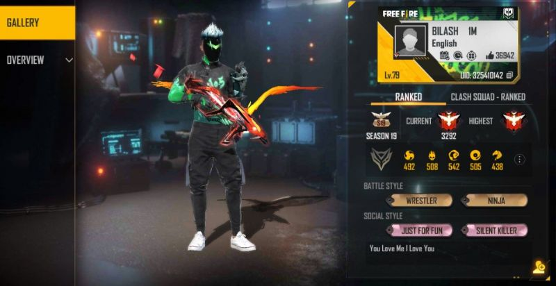 Bilash Gaming's Free Fire ID, K/D ratio, and stats in February 2021 - Sportskeeda