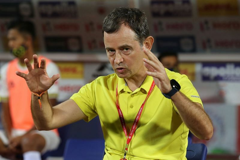 Kibu Vicuna was disappointed with the result of the game as he believed Kerala Blasters performed better (Image Courtesy: ISL Media)
