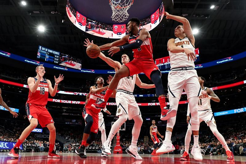 The Denver Nuggets travel east to face the Washington Wizards