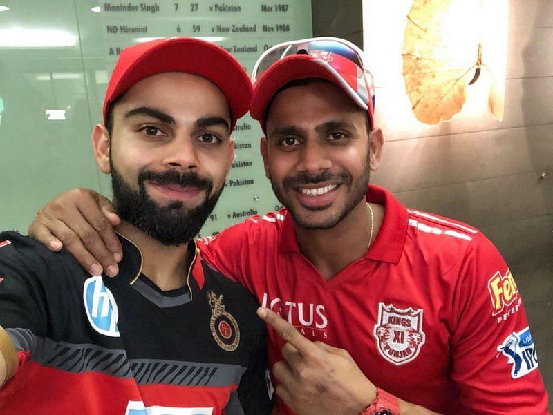 Virat Kohli and Manoj Tiwary (Photo: Twitter)