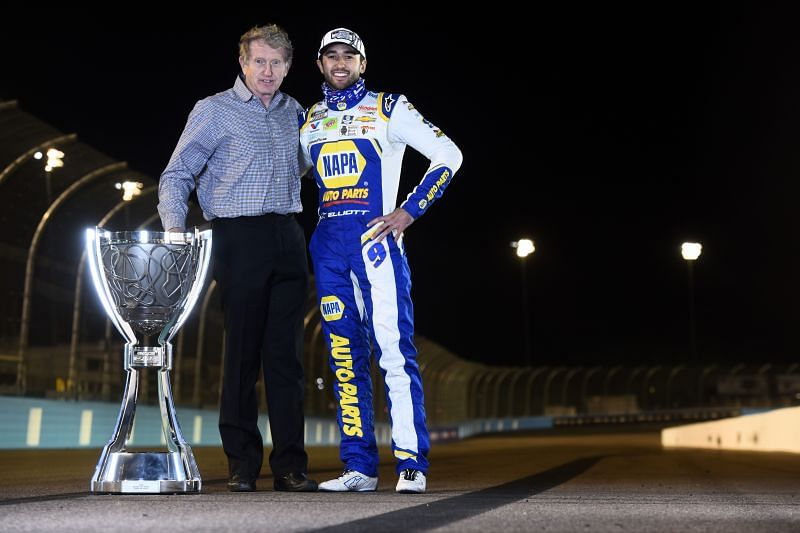 Chase and Bill Elliott. Photo/Getty Images