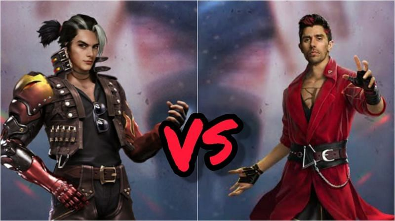 Comparing two popular Free Fire characters (Image via Sportskeeda)