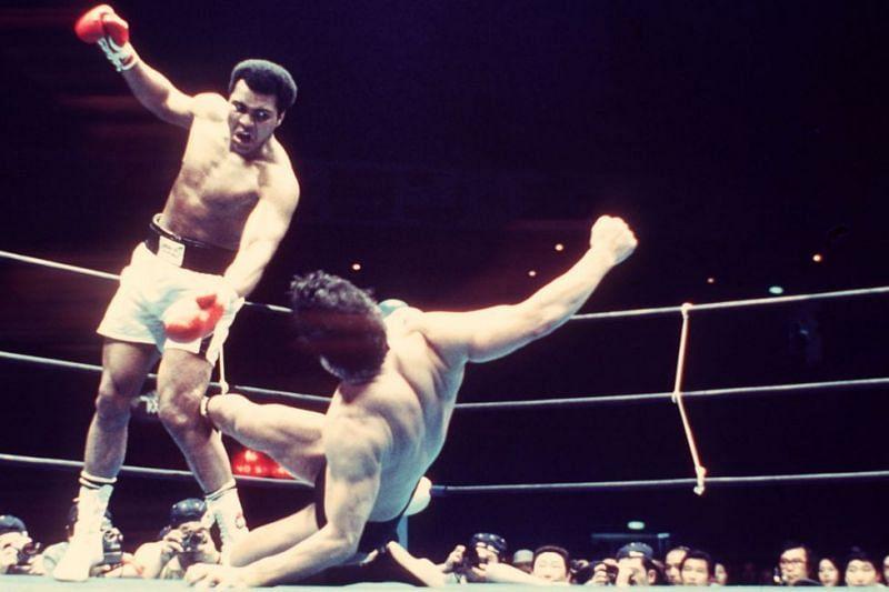 Muhammad Ali fought Antonio Inoki in a strange MMA bout in 1976.