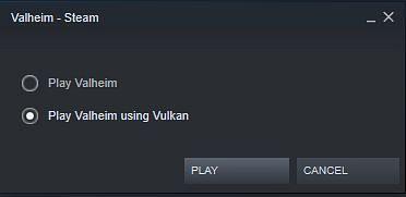 Valheim has received the Vulkan support (Image via Steam)