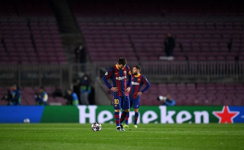 FC Barcelona and Lionel Messi suffered a damaging loss to PSG in the UEFA Champions League Round of 16