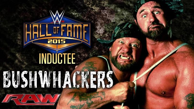John Laurinaitis inducted The Bushwhackers into the WWE Hall of Fame