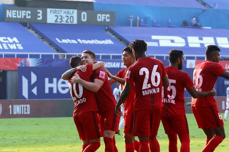 NorthEast United eased to a 3-1 win over Odisha FC in their last fixture. (Image: NorthEast United FC)
