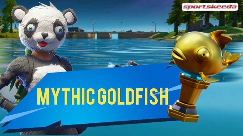 A Fortnite player has caught the Mythic Goldfish in the Season 5 Arena mode (Image via Sportskeeda)