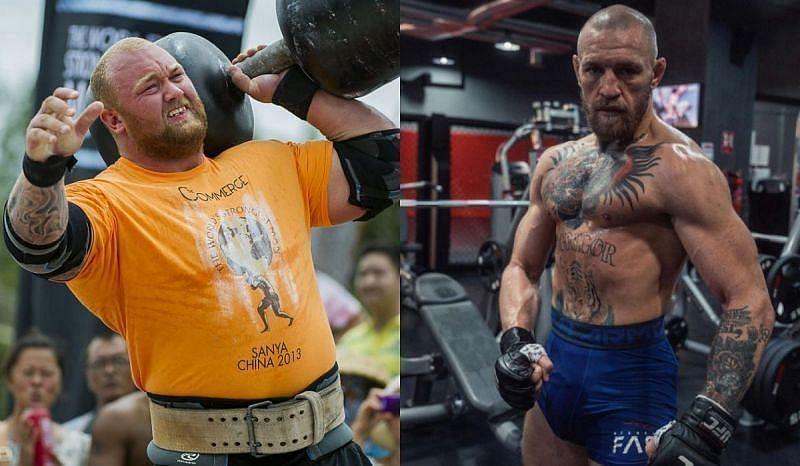 Thor Bjornsson and Conor McGregor