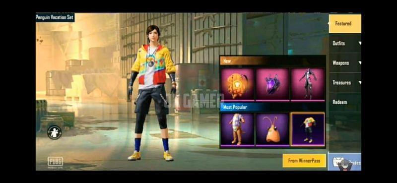 Penguin Vacation Set (Image via JK Gamer - PUBG Mobile Lite / YouTube)