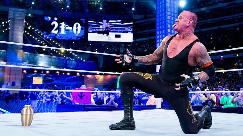 The Undertaker defeated CM Punk at WrestleMania 29, taking his WrestleMania record to 21-0
