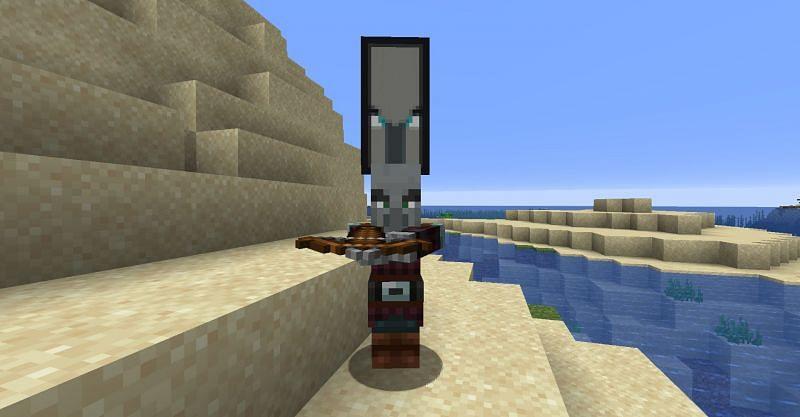 Pillager raid captain in Minecraft (Image via Minecraft)