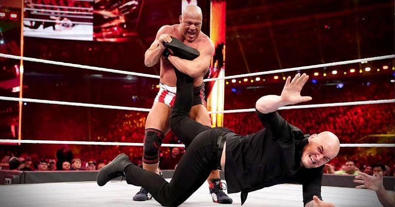 Kurt Angle vs. Baron Corbin.