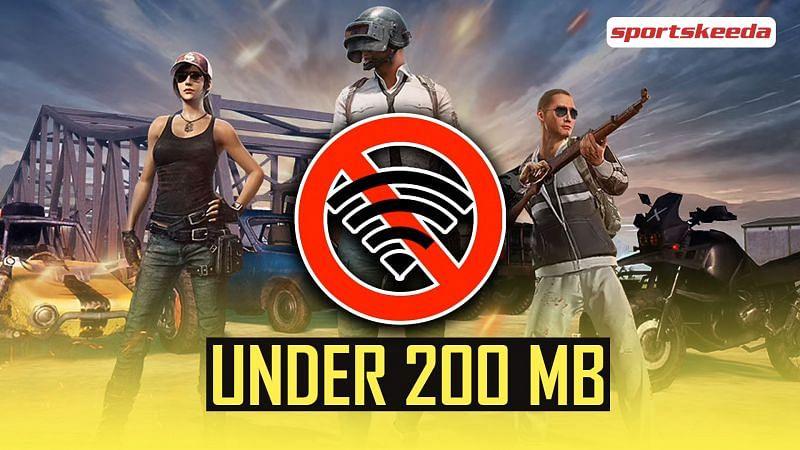 Offline games like PUBG Mobile under 200 MB