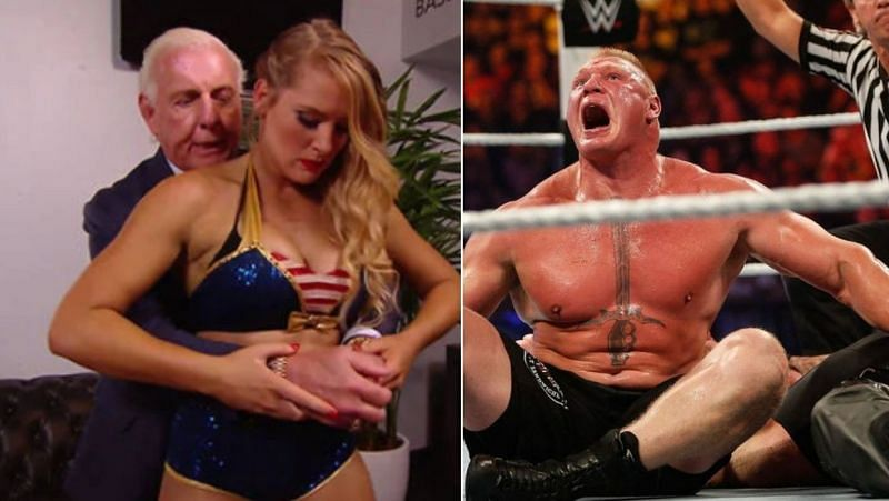 Flair and Evans/Lesnar