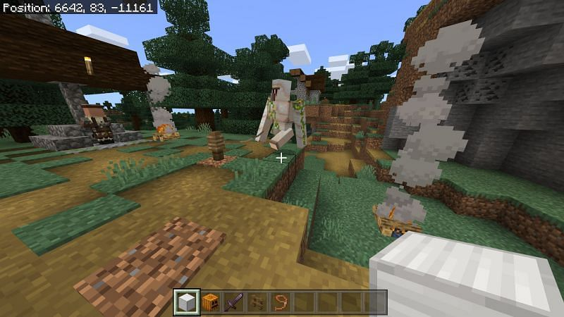 Taming an Iron Golem in Minecraft