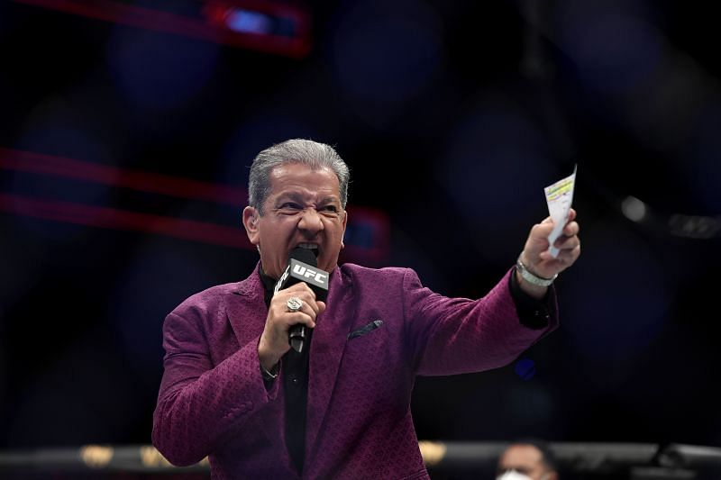Bruce Buffer thanked the promotion for trusting him to be the voice of the Octagon.