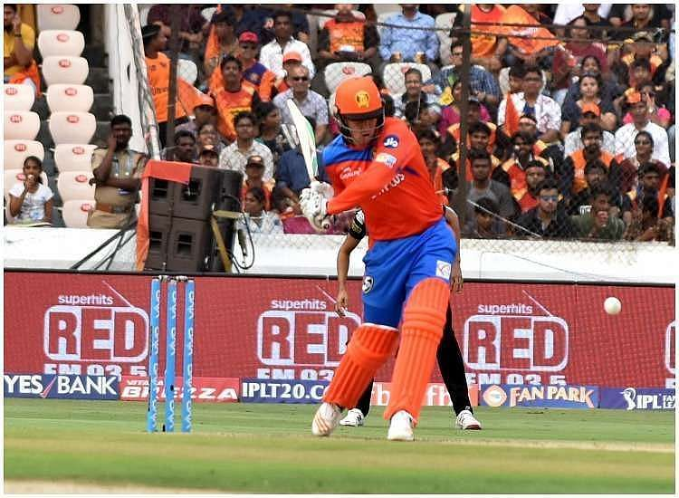 Jason Roy playing for the Gujarat lions