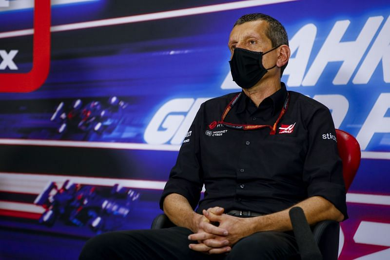 Guenther Steiner in Bahrain. Photo: Getty Images