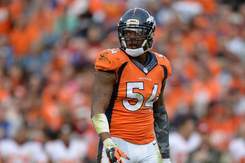 Brandon Marshall while playing for the Denver Broncos