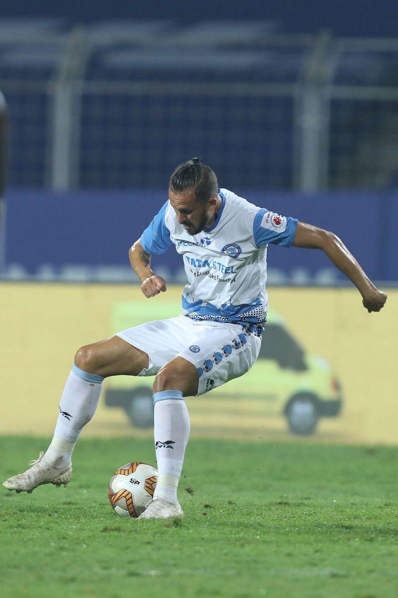 Nerijus Valskis scored against Mumbai City FC earlier in the season (Image Courtesy: ISL Media)