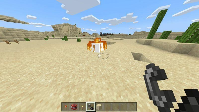 TNT lighted in Minecraft